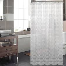 Transparent Shower Curtain Transparent Shower Curtain Part 25 Image Of Floral Stripe