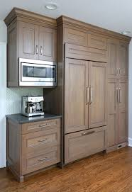 gray stained kitchen cupboards warm gray stain on kitchen cabinets normandy remodeling