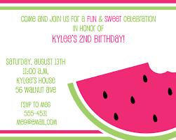 watermelon birthday invitations watermelon birthday invitations