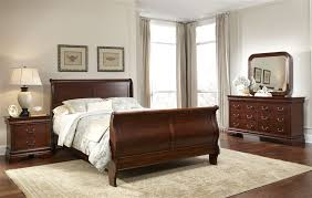Sleigh Bedroom Furniture Court Sleigh Bed 6 Bedroom Set In Mahogany Stain Finish By