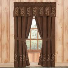 Valance And Drapes Wildlife Curtains Drapes And Valances Window Treatments Cabin