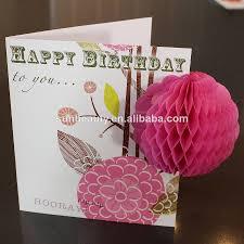 3d Invitation Card Tissue Paper Honeycomb Handmade Craft Wedding Invitation Card