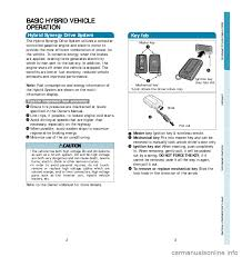 toyota prius 2006 2 g quick reference guide