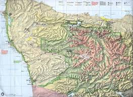 Detailed Map Of Washington State by Maps Topo Highway Trail Maps Olympic National Park