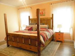 ana white slatted four post farmhouse bed queen diy projects