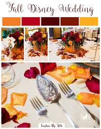 disney wedding fall color palette fairy tale
