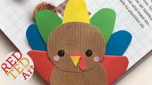 fun easy thanksgiving crafts easy turkey bookmark corner fun thanksgiving diy paper crafts