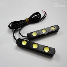 drl 3x led auto led lights lens led light bar 12v waterproof