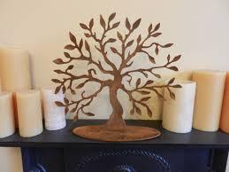 Tree Of Life Home Decor Tree Of Life Medium Rustic Home Decor Rusty Metal Tree