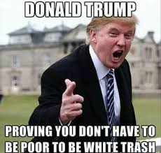 Meme Poor - donald trump proving you don t have to be poor to be white trash