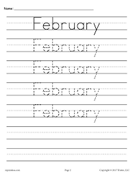 12 free handwriting worksheets months of the year
