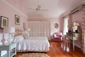pink bedroom at the leamington house once the residence of the