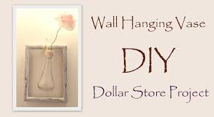 Vases Decor For Home Diy Wall Decor Hanging Vase With Paper Flower Easy Dollar Store