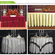 beautiful table cloth design elegant style ruffled design wedding table skirting for round square