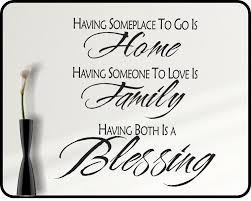 Blessings Home Decor by Inspirational Family Wall Decal Quote Family Blessing Home