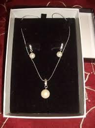 buckingham earrings buckingham pearl diamante drop necklace and matching earrings