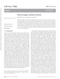 how to write a paper whitesides pencil on paper electronic devices pdf download available