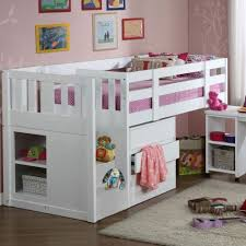 White Bunk Bed With Stairs Kids Children U0027s Neutron Mid Sleeper Single Cabin Bunk Bed With