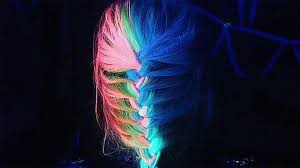 glow in the dark rainbow hair is the latest wacky trend today com