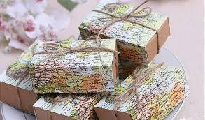 new around the world map favor sweet box for traveling theme