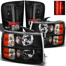 2009 chevy silverado tail lights chevy silverado 2007 2013 black headlights and led tail lights