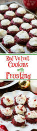 red velvet cookies with cream cheese frosting these cookies are