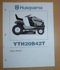 husqvarna lawn tractor yth20b42t owners manual with parts list ebay