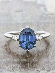 oval sapphire engagement rings rosanne oval three blue sapphire engagement ring ken