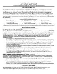 Resume For Financial Analyst Financial Analyst Resume Sample Entry Level Financial Analyst