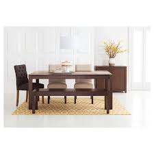 parsons wood dining table parsons dining room collection threshold target kitchen