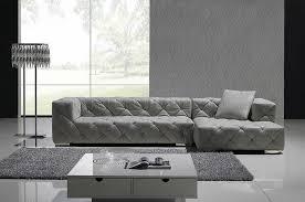 Grey Modern Sofa by Grey Full Italian Leather Modern Sectional Sofa W Crystals