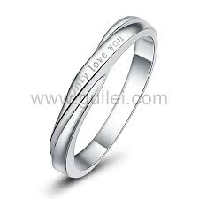 Custom Name Ring Love Quote Sterling Silver Personalized Name Commitment Ring For