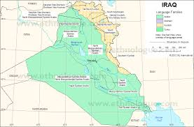 map of irak iraq ethnologue