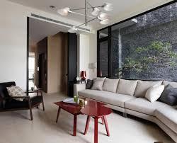 living room craftsman meets contemporary open floor plan living