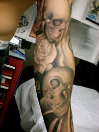 skull and roses black and grey best home decorating ideas
