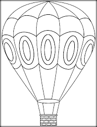 air balloon coloring pages adults color zini