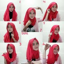 tutorial memakai jilbab paris yang simple 40 cara memakai jilbab segi empat modern terbaru fashion muslim