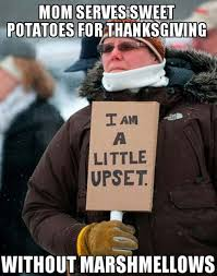 Funny Thanksgiving Meme - thanksgiving meme 002 sweet potatoes no marshmellows comics and