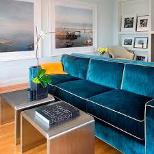 blue velvet sofa design ideas