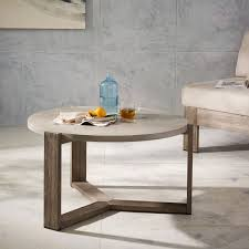 west elm concrete side table abbott concrete square coffee table pottery barn intended for top