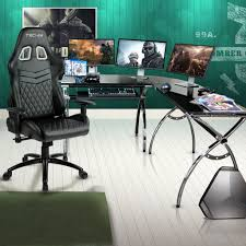 techni sport ergonomic high back gaming desk chair gaming desks for esports and streamers techni sport
