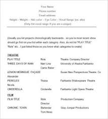 Actor Resume Examples by Opulent Ideas Acting Resume Examples 10 10 Templates Free Samples