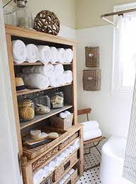 bathroom storage ideas rustic wooden towel holder clever