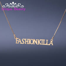 custom made name necklace wholesale name necklace gold plate solid silver all capital