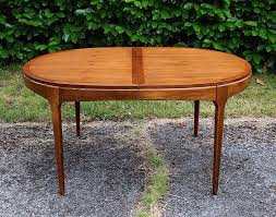 mid century oval dining table new arrival oval shaped mid century walnut lane fremont