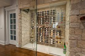 wall mounted wine racks wine cellar transitional with wood floor