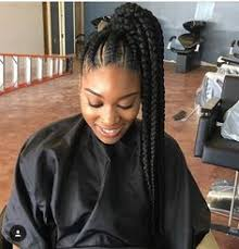 human hair ponytail with goddess braid instagram post by jazmin davidson jazitup cornrows hair