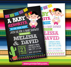 baby shower invitations mexican baby shower