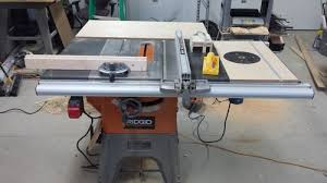 Ridgid Table Saw Review Ridgid R4512 Table Saw 1 My R4512 Setup By Uminded