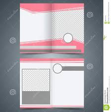 empty bifold brochure template design with pink co royalty free